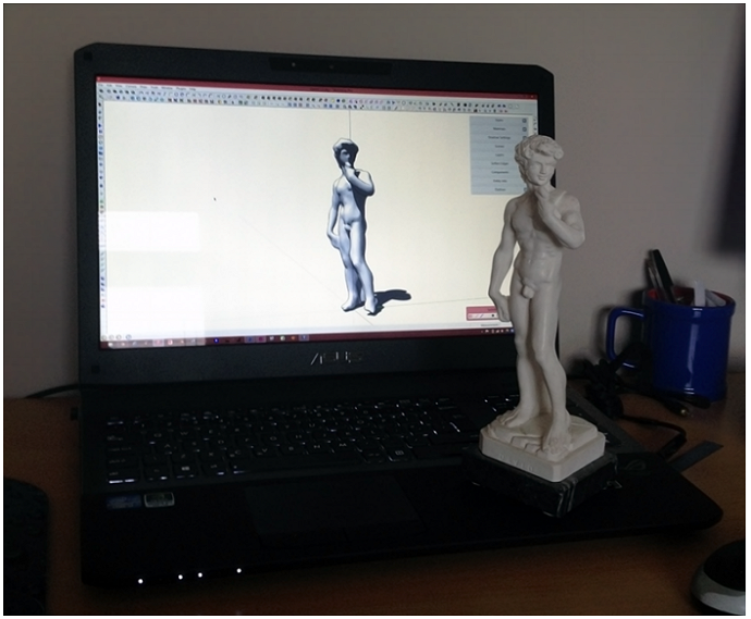 Statue of David in SketchUp after 3D scanning