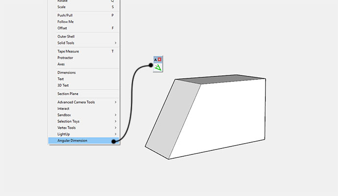 activating angular dimensions in sketchup