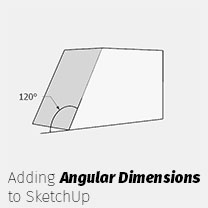 adding angular dimensions to sketchup