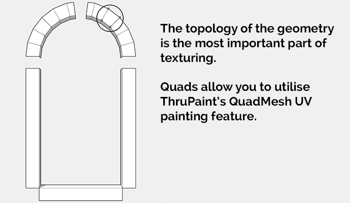 arch quad mesh in sketchup