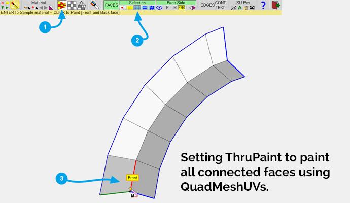 ThruPaint settings in SketchUp