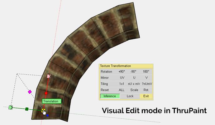 ThruPaint Visual Editing in SketchUp