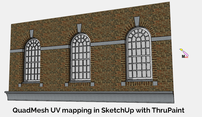 Textured Arch in SketchUp