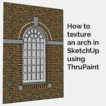 arch texturing in SketchUp