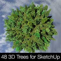 48 3D Trees for SketchUp