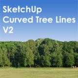 Image for 35 SketchUp Curved Tree Lines V2