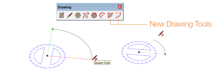 New Arc Drawing tools for SketchUp 2014