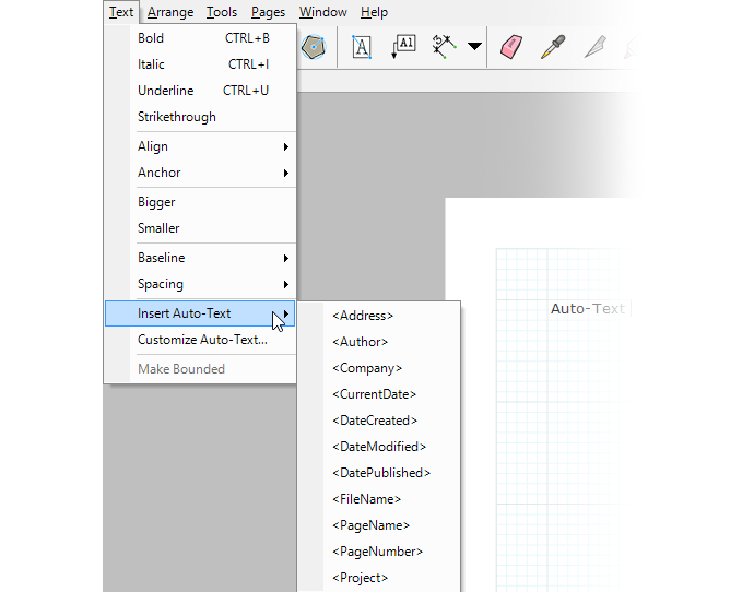 Auto-Text Tool insertion in LayOut 2014