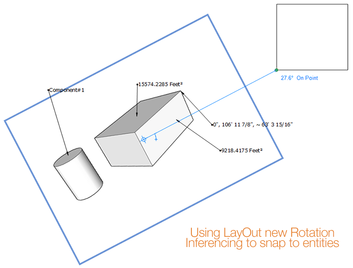 Rotation Inferencing in LayOut 2014