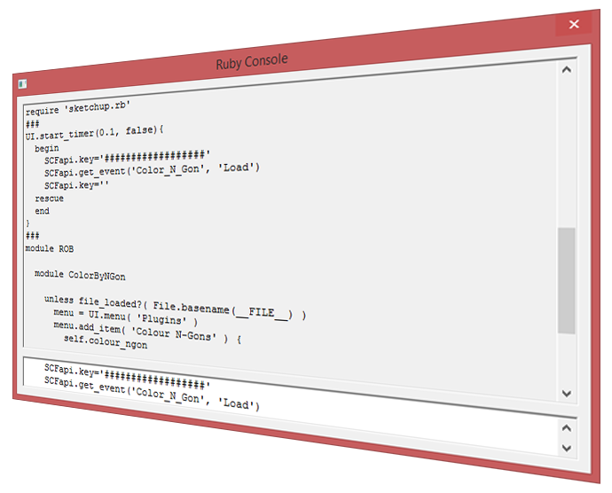 Ruby Console in SketchUp 2014