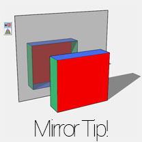 mirroring objects in SketchUp