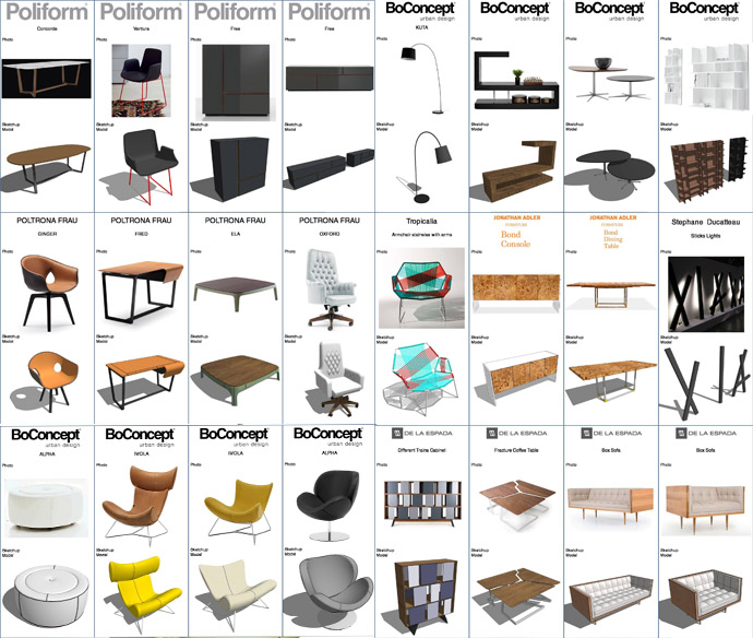 Furniture design sketchup how to create furniture in for Outdoor furniture 3d warehouse
