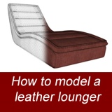 Image for Leather lounger modeling in Sketchup