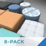 Image for 8 Pack Ottomans & Poufs